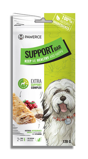 Pawerce Support Bar Medium Kauriegel 120g - (4,40 EUR/100g)