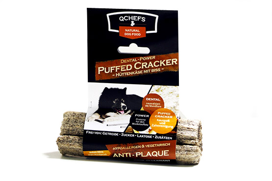 QCHEFS Dental - Power CRACKER GEPUFFT 3er Pack 75g - (10,65 EUR/100g)