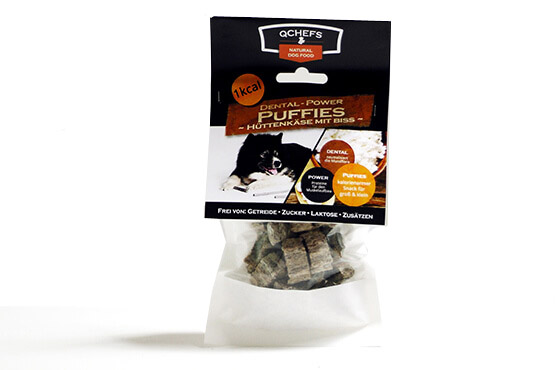 QCHEFS Dental - Power PUFFIES 65g - (10,75 EUR/100g)